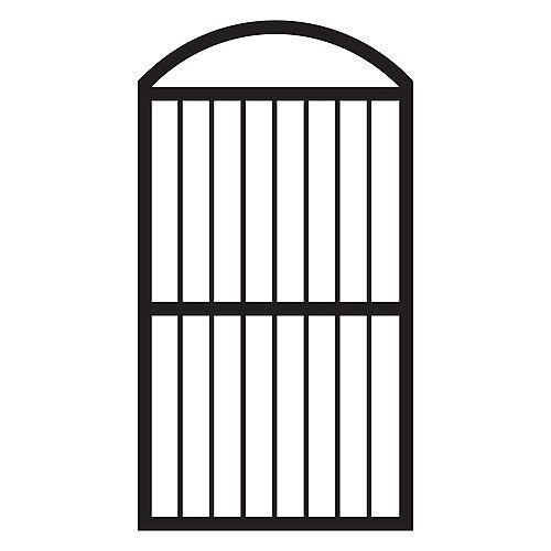 Veranda Portillon arqué pour clôtures, aluminium, noir
