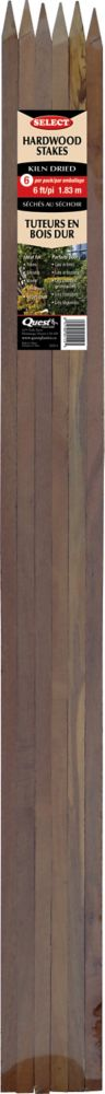 Quest Hardwood Stakes 6'  - 6 / pk