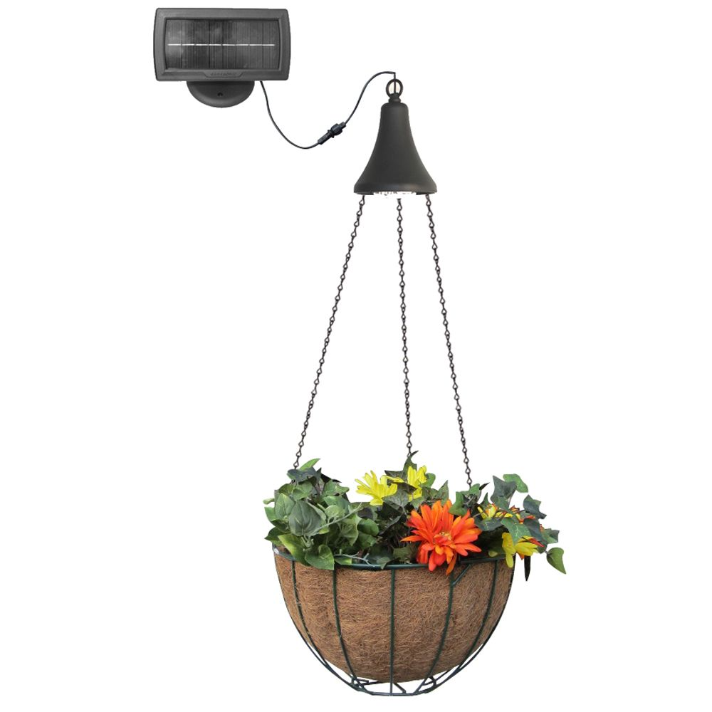 Gama Sonic Hanging Basket with Solar Light | The Home ...