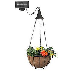 Hanging Basket with Solar Light
