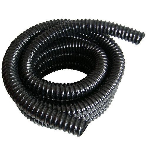Angelo Décor Tuyau renforcé pour bassin de 5 m et 25mm diamètre intérieur « Anti-nud », noir