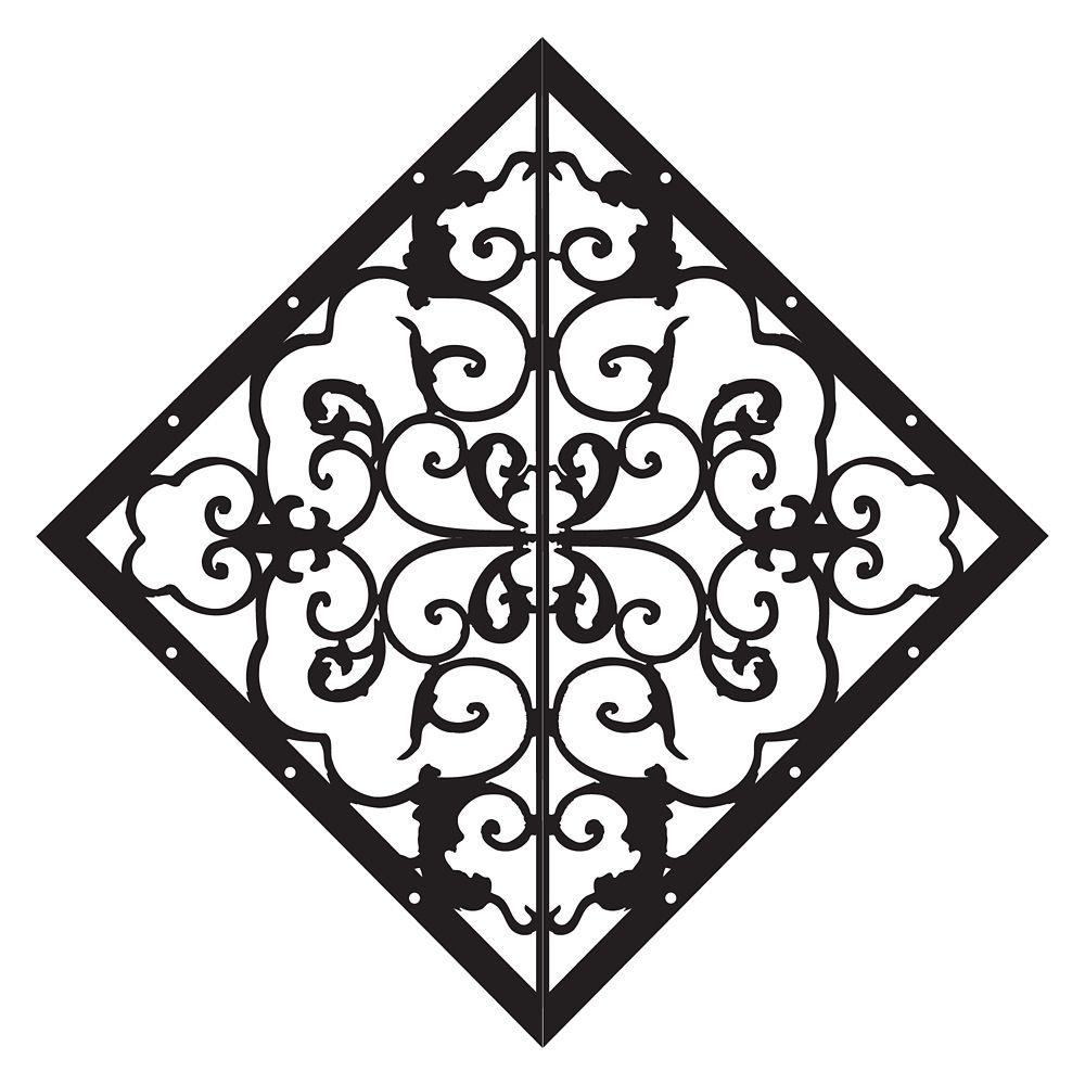 Élément décoratif en forme de losange pour porte et clôture