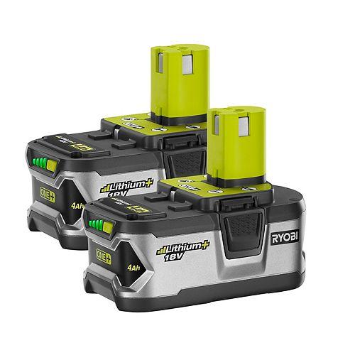 Ensemble de deux batteries à haute capacité ONE+, 18 V, 4,0 Ah