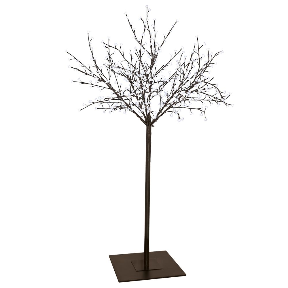 LED Tree 98 Inches High with 600xLED and Brown Finish