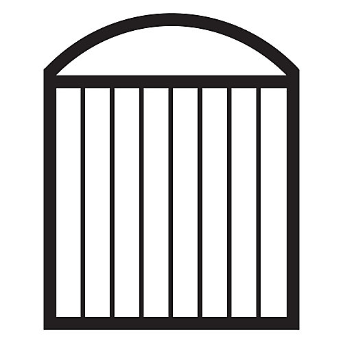 36-inch W x 45-inch H Arched Aluminum Deck Gate in Black