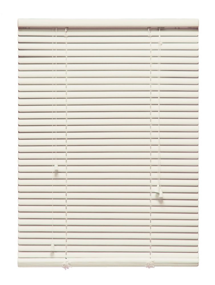 18 in x 72 in alabaster 1 aluminum blind 1079347851291 for 18 inch window blinds