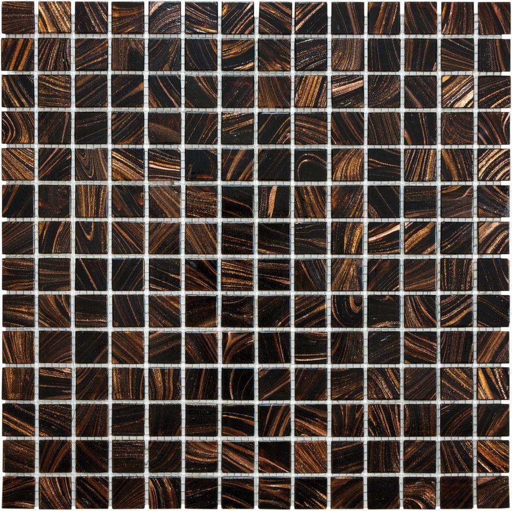 3/4 X 3/4 Java Bronze Glass Mosaic 12-143 Canada Discount