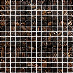 Sassi 3/4-inch x 3/4-inch Glass Mosaic in Java Bronze