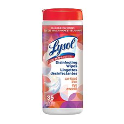 Lysol Disinfecting Surface Wipes, Sun-kissed Linen, 35 Wipes, Disinfectant, Cleaning, Sanitizing