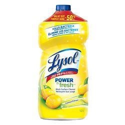 Lysol All Purpose Cleaner, Pour, Lemon, 1.2 L, Multi Surface Cleaner