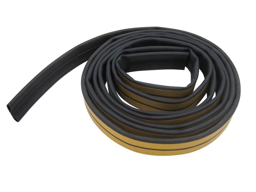 Rub. sil. 6x12mmx6,10m - noir
