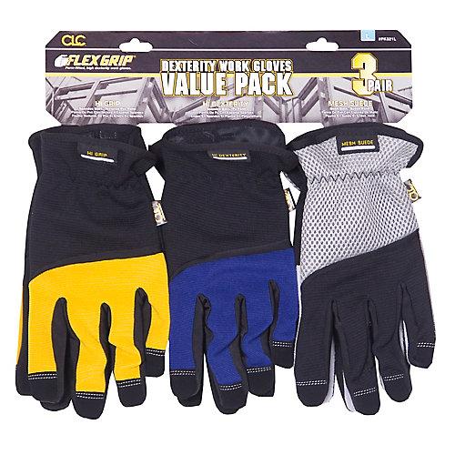 High Dexterity Gloves (3-Pack)