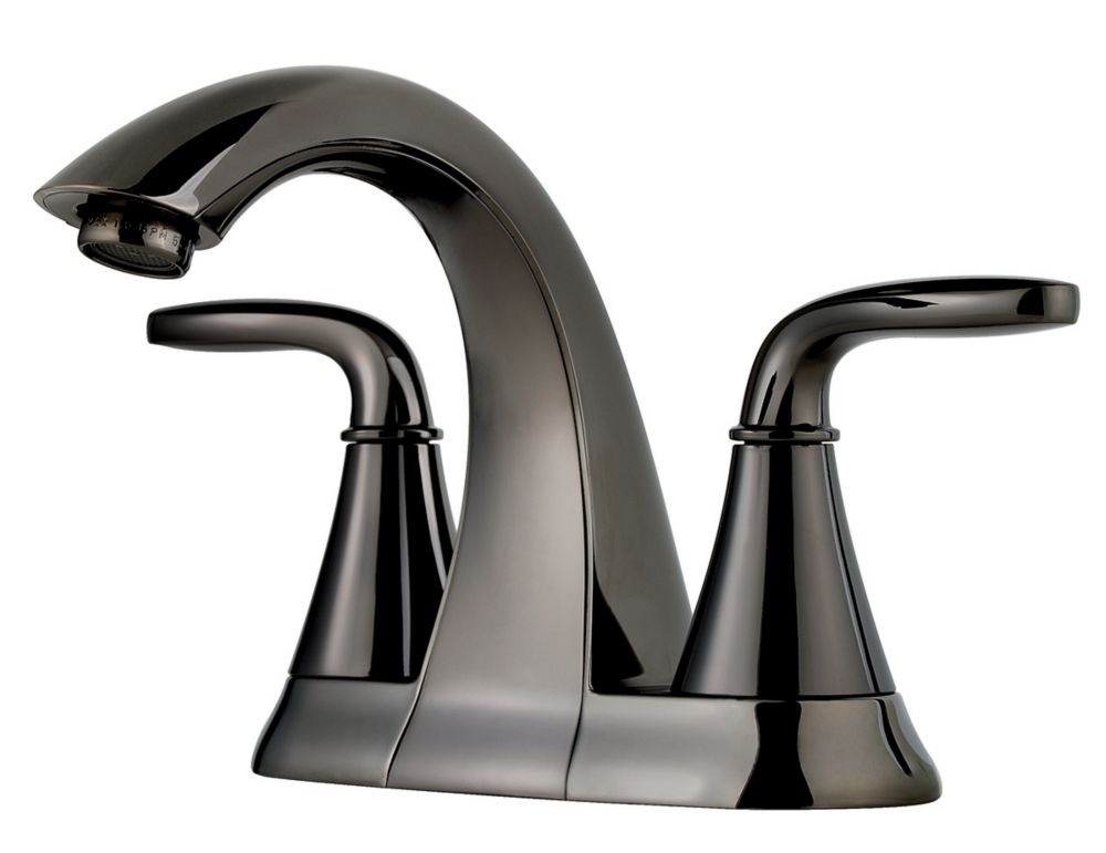 7 Faucet Finishes For Fabulous Bathrooms: Pfister Pasadena 4-inch Centreset Bathroom Faucet In