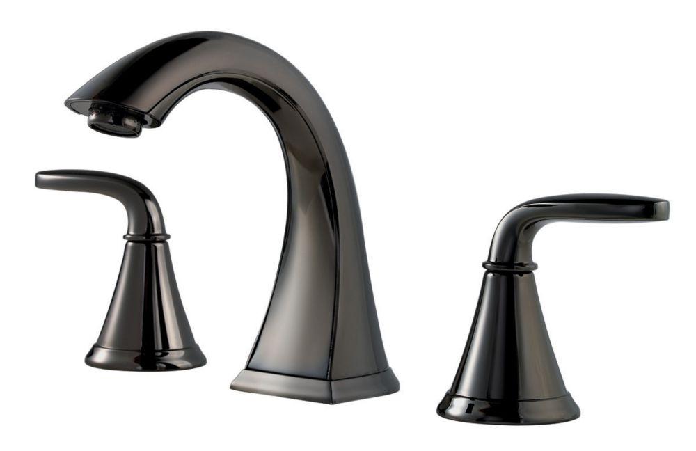 Hampton 8 Inch Widespread 2 Handle Low Arc Bathroom Faucet In Chrome With Por