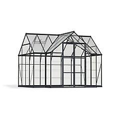 Garden Chalet 12 ft. x 10 ft. T-Shaped Aluminum & Polycarbonate Black Greenhouse