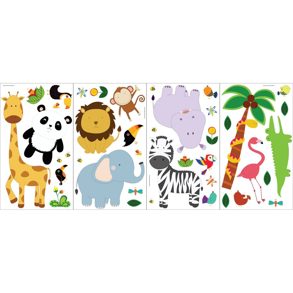 the wallpaper company appliqu 233 s sweet safari home depot safari wall sticker nursery baby room theme sticky