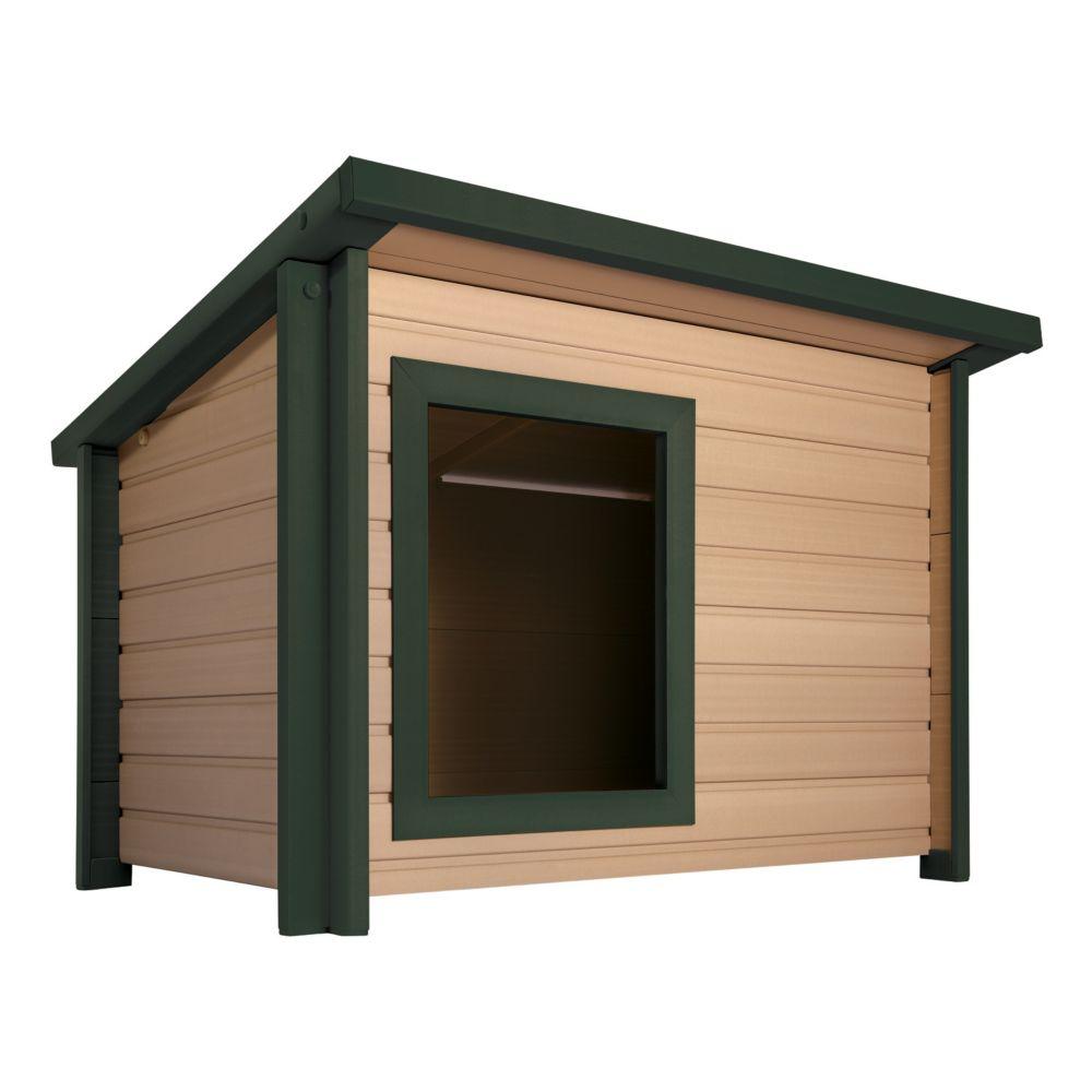 EcoChoice Rustic Lodge Dog House, Medium