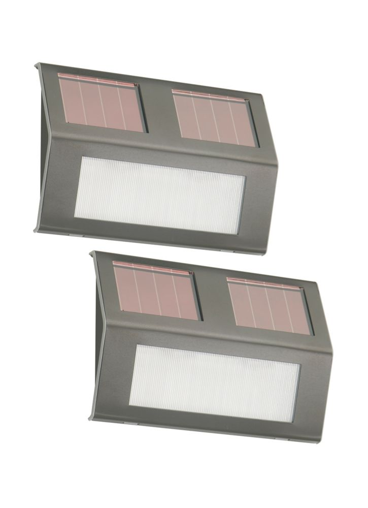 6 Inch Solar Powered Outdoor Bronze Stainless Steel Step Lights - (2-Pack)