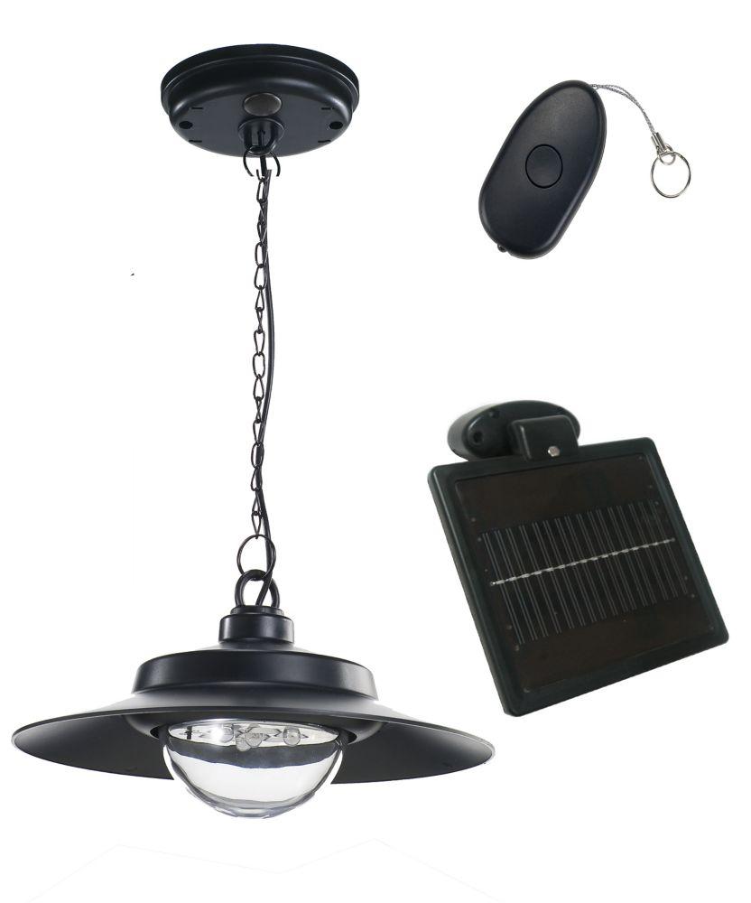 Nature Power 4-Light Black Indoor/Outdoor Solar-Powered