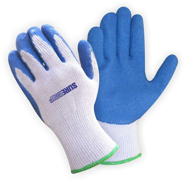 Bulk Polyester Glove With Blue Rubber Coated Palm (28 units)