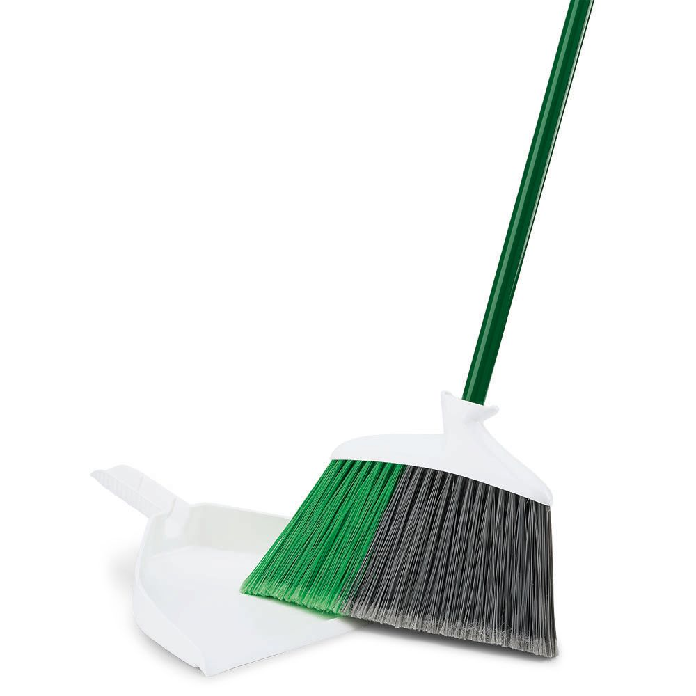 In Out Angle Broom w Dustpan