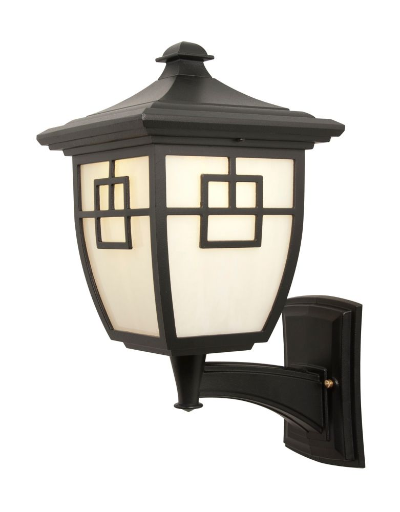 Nuance, Uplight Wall mount, LED 7 watts, Marbleized white glass panels, Black