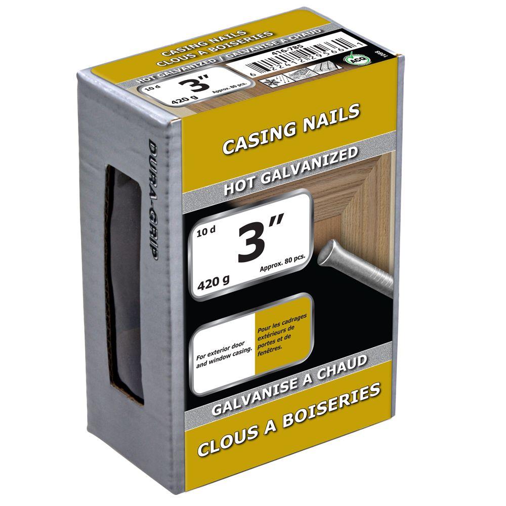 "3"" Casing Nail Hot Galv 420g"