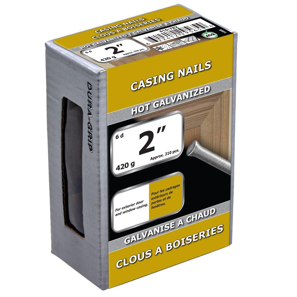"2"" Casing Nail Hot Galv 420g"