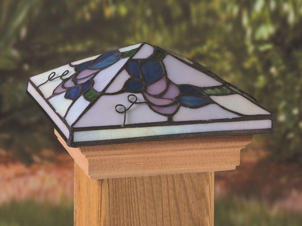 4x4 Post Cap - Tiffany Grape - Cedar Base