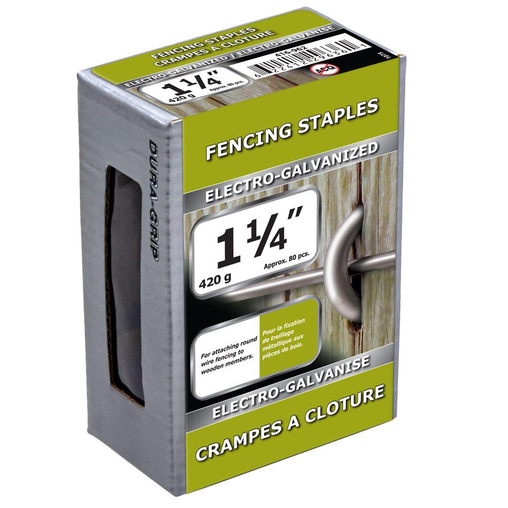 "1 1/4"" Fence Staple Electro Galv 420g"