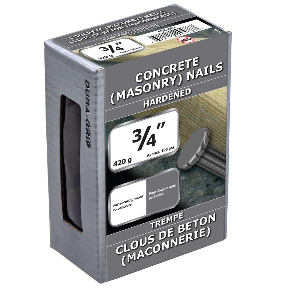 """3/4"""" clous de beton (maconnerie) trempe 420g"""