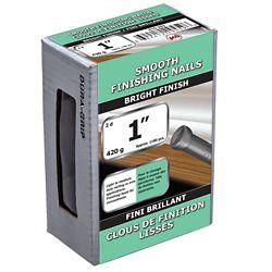 Paulin 1 pouce (2d) fini lisse vernis à clous brillant - 420 g (environ 1180 pièces par paquet)