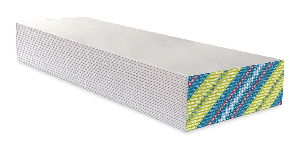 Panneau de gypse SHEETROCK UltraLéger FIRECODE 30, bord aminci, 5/8po, 4pi x 8pi