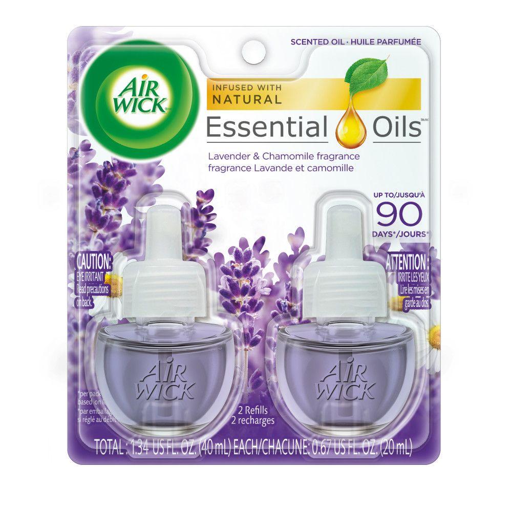 Deux recharges d'huille parfumée - lavande et camomille 40 ml