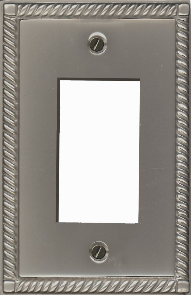 Double Rocker Solid Brass Pewter Finish