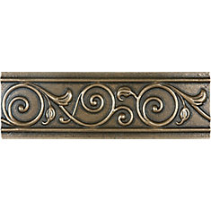 Corbel 2-inch x 6-inch Metal Border Tile in Cast Bronze