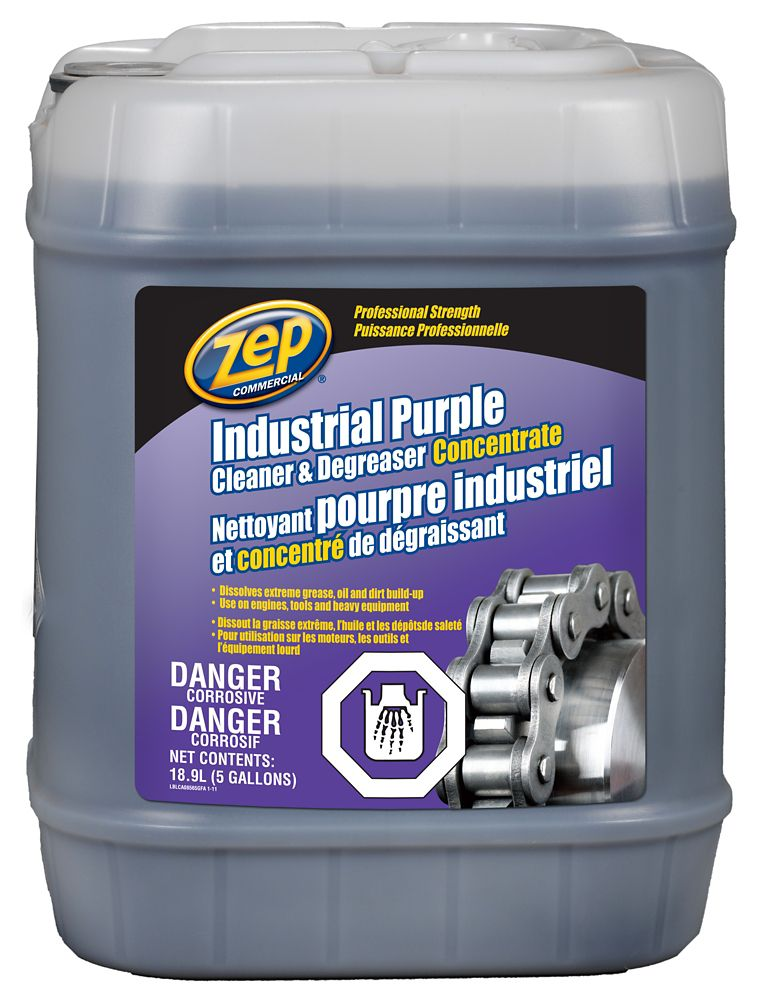 Zep Commercial Industrial Purple Cleaner And Degreaser