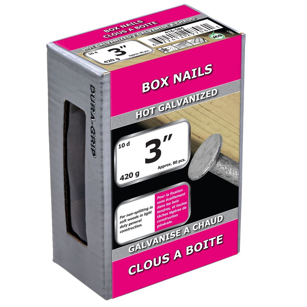 "3"" Box Nail Hot Galv 420g"