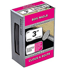3-inch (10d) Box Framing Nail-Hot Galvanized-420g (approx. 80  pieces per package)