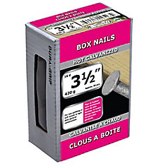 3 1/2-inch (16d) Box Framing Nail-Hot Galvanized-420g (approx. 60  pieces per package)