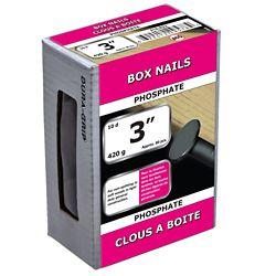 Paulin Boîte de 3 po (10d) à cadre à clous enduit de phosphate - 420 g (environ 80 pièces par paquet)
