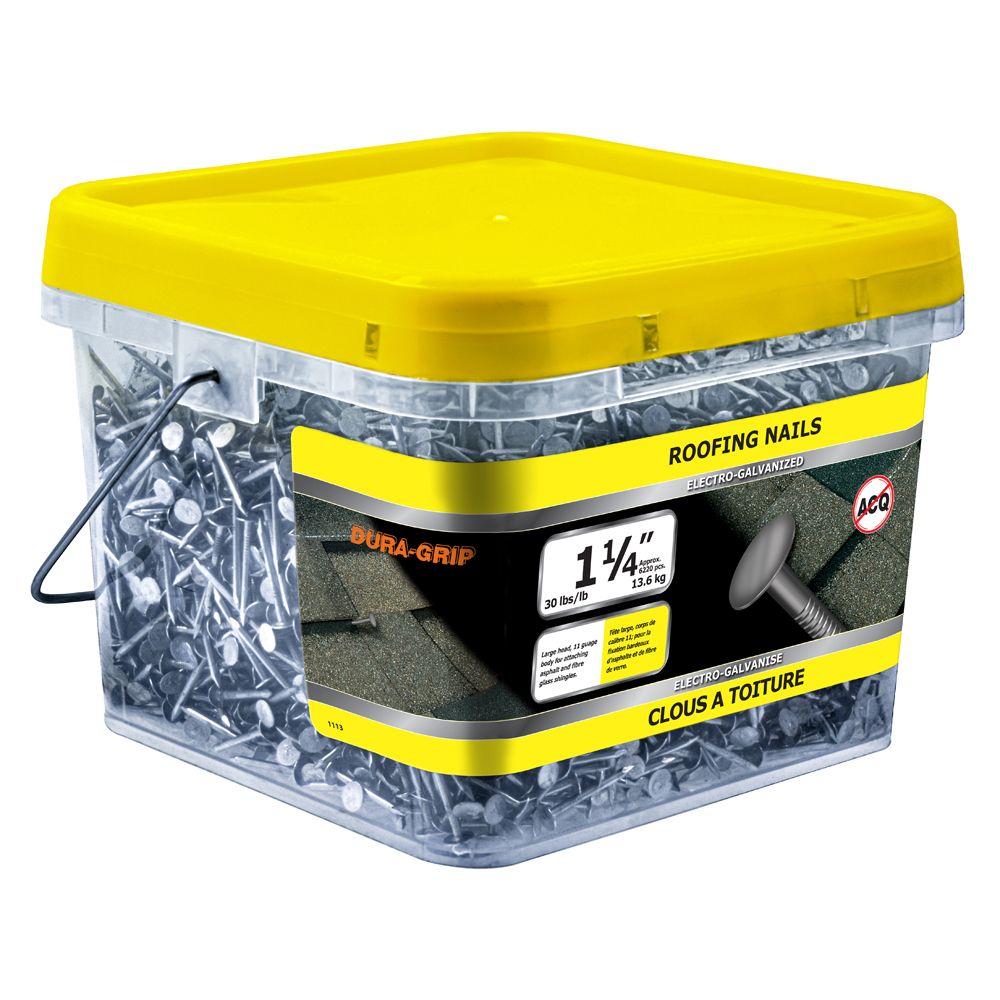"1 1/4"" Roofing Electro Galv 11 GA 30lb"