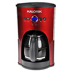 Stainless Steel/Black Programmable 12 Cup Coffee Maker