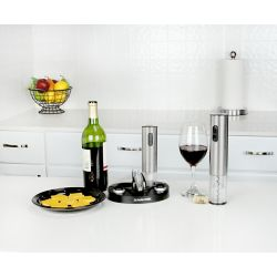 Kalorik Wine Lovers Set with Electric Corkscrew and Stoppers