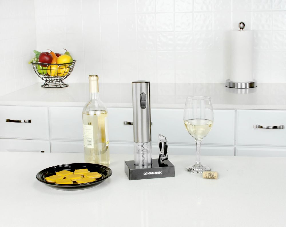 Kalorik Electric Corkscrew in Stainless Steel