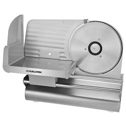 Kalorik 7 1/2-inch Meat Slicer in Silver with 1/32-inch to 1/2-inch Thickness Adjustment