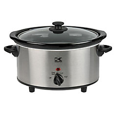 3.7 Qt Stainless Steel Oval Slow Cooker