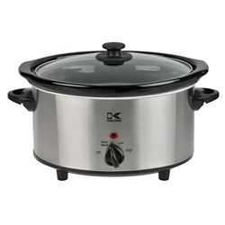 Kalorik 3.7 Qt Stainless Steel Oval Slow Cooker
