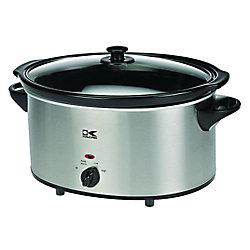 Kalorik 6 Qt Stainless Steel Oval Slow Cooker