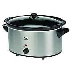 6 Qt Stainless Steel Oval Slow Cooker